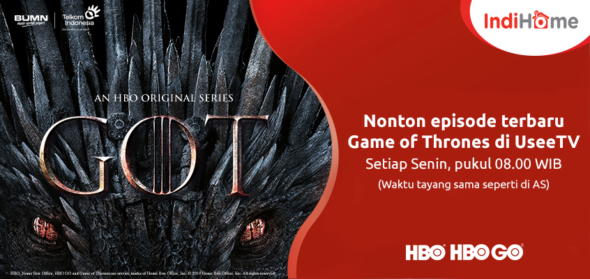 IndiHome Banner HBO Games of Thrones